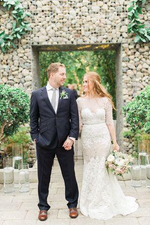 Ivory Lace Long Sleeve Wedding Dress