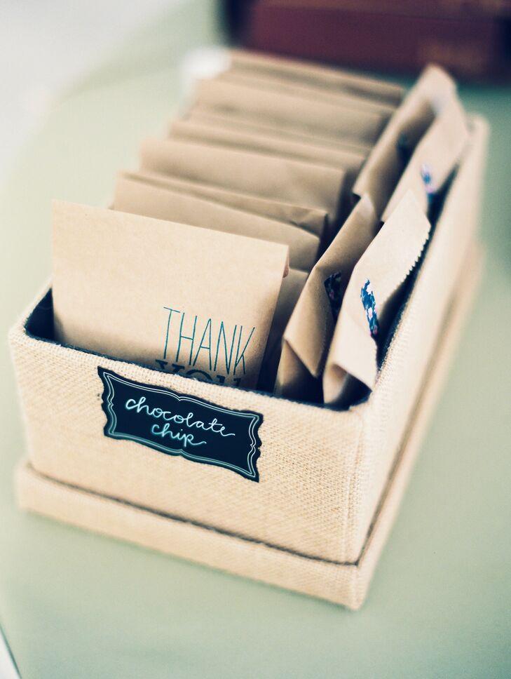 DIY Chocolate Chip Cookie Wedding Favors