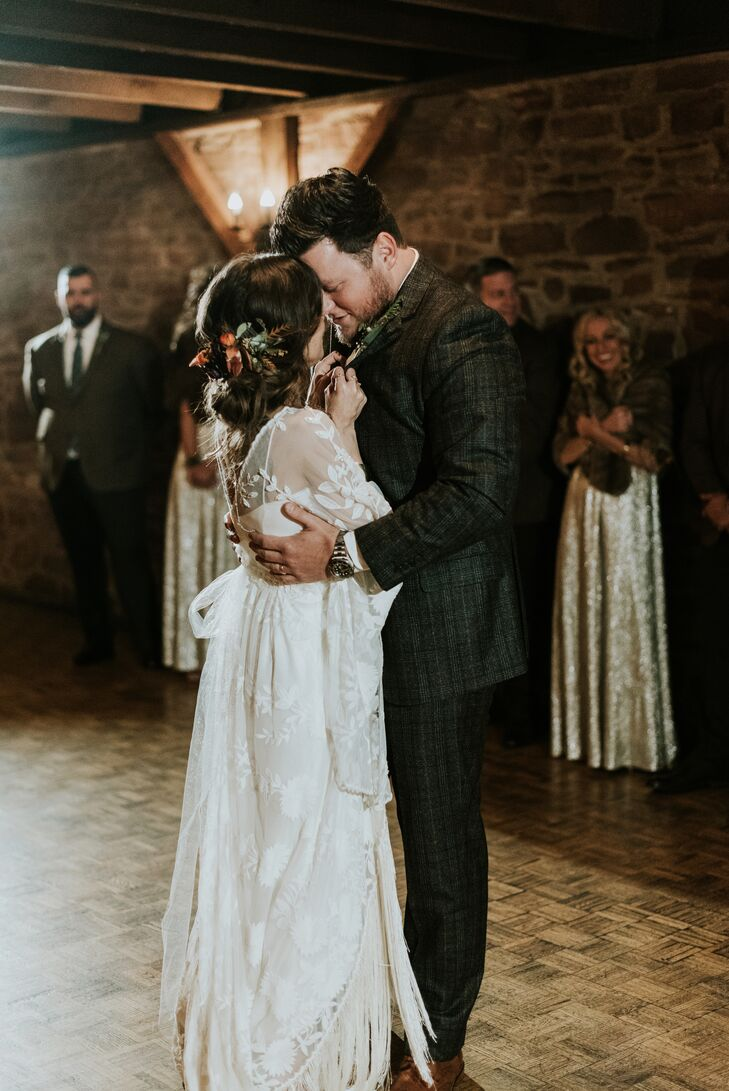 First Dance at Barn on Bridge in Collegeville, Pennsylvania