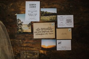 Rustic Invitation Suite with Photography of Venue