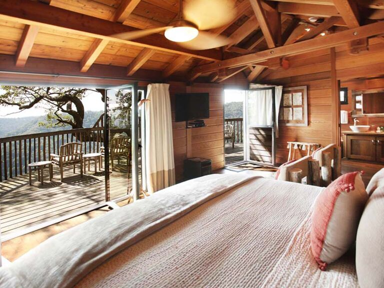 interior of honeymoon cabin