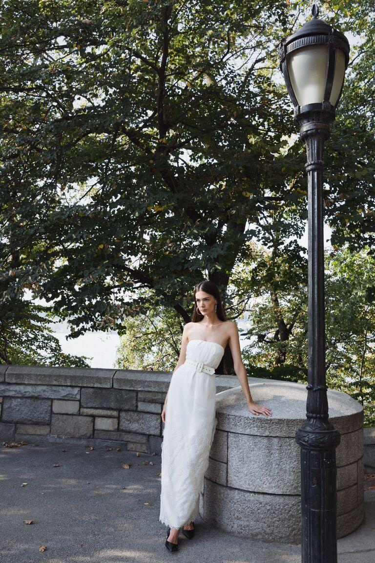 LEIN strapless column dress