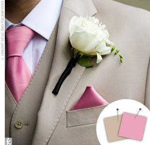 Wedding Color Combo: Light Pink + Khaki