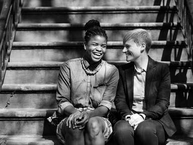 LGBTQ+ couple engagement session