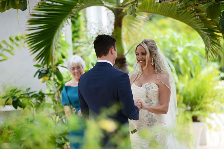 Kyle and Kristine exchanged vows at Cayman Islands Baptist Church in Grand Cayman.