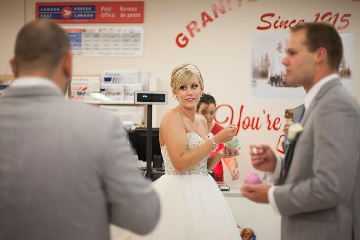 Wedding Party Ice Cream Shop Visit