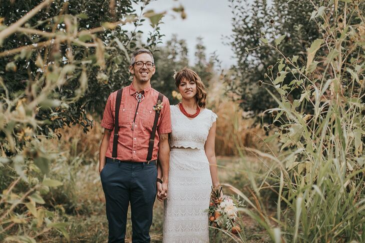"""I inherited a bolo tie that my mom had bought my grandfather as a gift when she first moved to New Mexico,"" Thommy says. ""The bolo tie was sentimental and incorporated some Southwestern flavor into my wedding day outfit."""