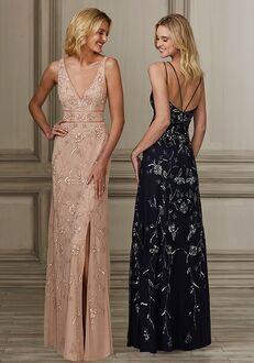 Adrianna Papell Platinum 40138 V-Neck Bridesmaid Dress