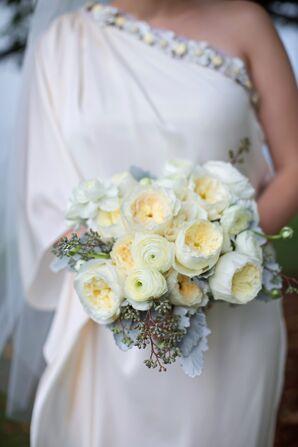Ivory Garden Rose and Ranunculus Bridal Bouquet