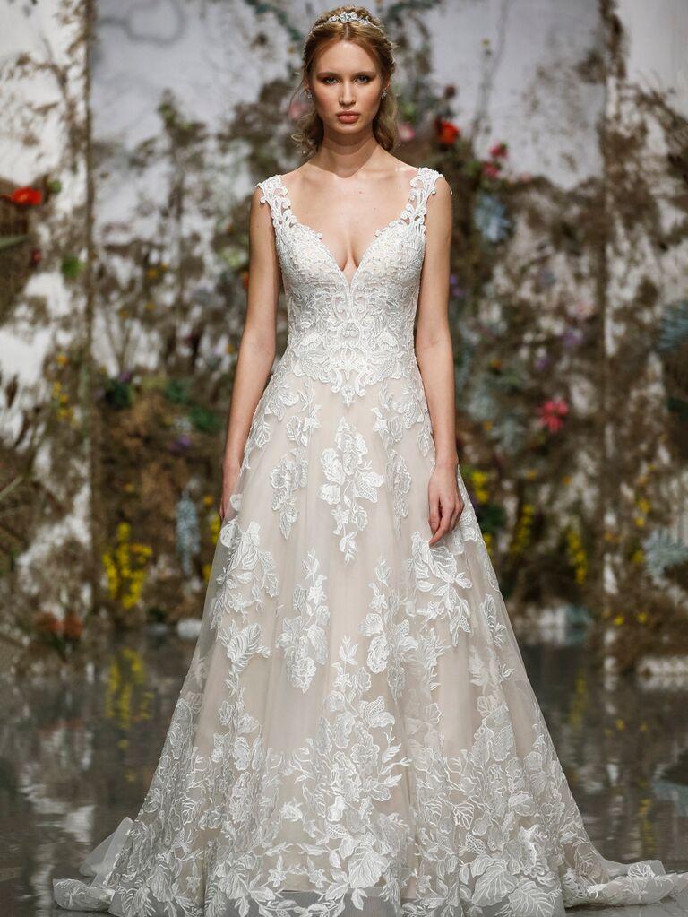 Morilee by Madeline Gardner Spring 2020 floral-embroidered wedding dress