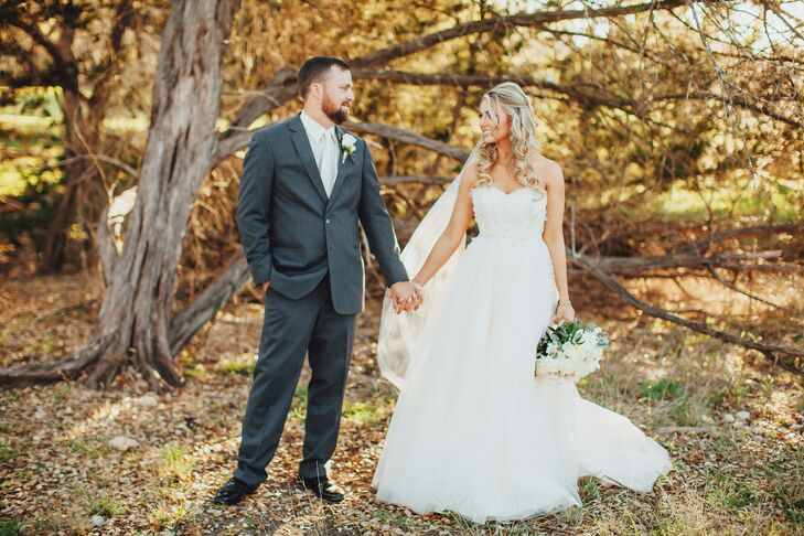 Courtney Attebery (25 and a project manager) and Andrew Colson (25 and a construction manager) had a Hill Country wedding that reflected who they are