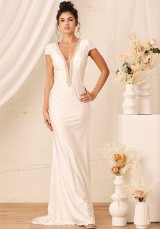 Lulus True Love Story White Embellished Cap Sleeve Mermaid Maxi Dress Mermaid Wedding Dress