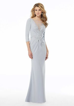 MGNY 72115 Blue Mother Of The Bride Dress