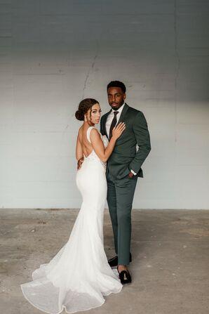 Wedding Portraits at Willow Ballroom in Hood, California
