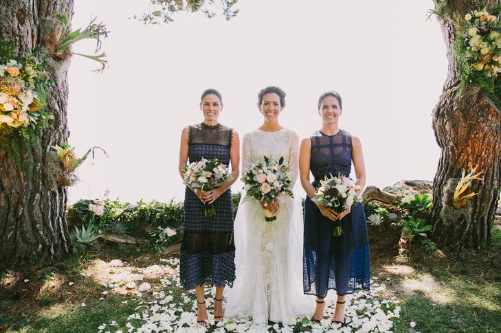 """Rory calls these cobalt blue Self-Portrait dresses """"the antibridesmaid dress."""" Each was slightly different from the other and looked """"effortlessly cool, edgy and elegant."""""""