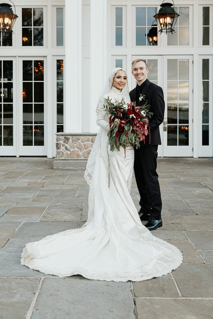 Bride and Groom Portraits at The Ryland Inn in Whitehouse Station, New Jersey