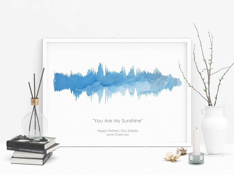 Aimee Rose Design sound wave art on Etsy romantic gift for wife