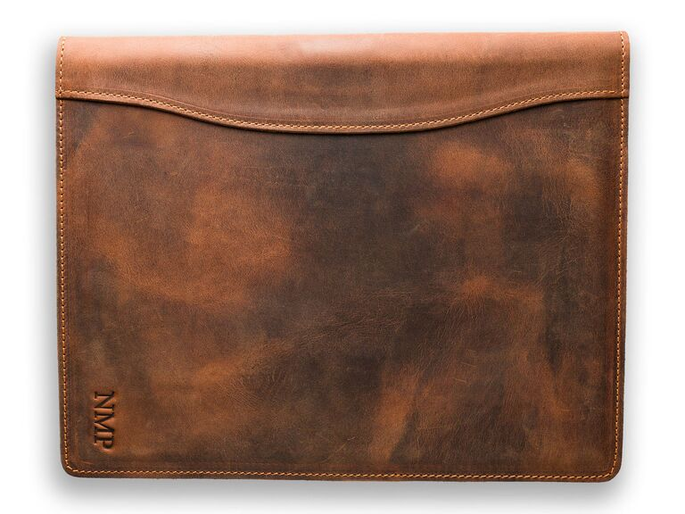 Pagai personalized leather portfolio