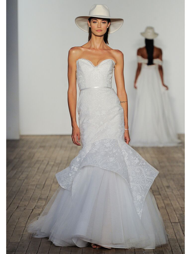 Hayley Paige wedding dresses strapless trumped gown