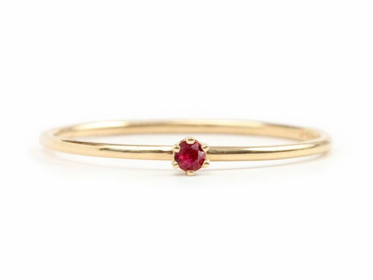 small solitaire ruby engagement ring