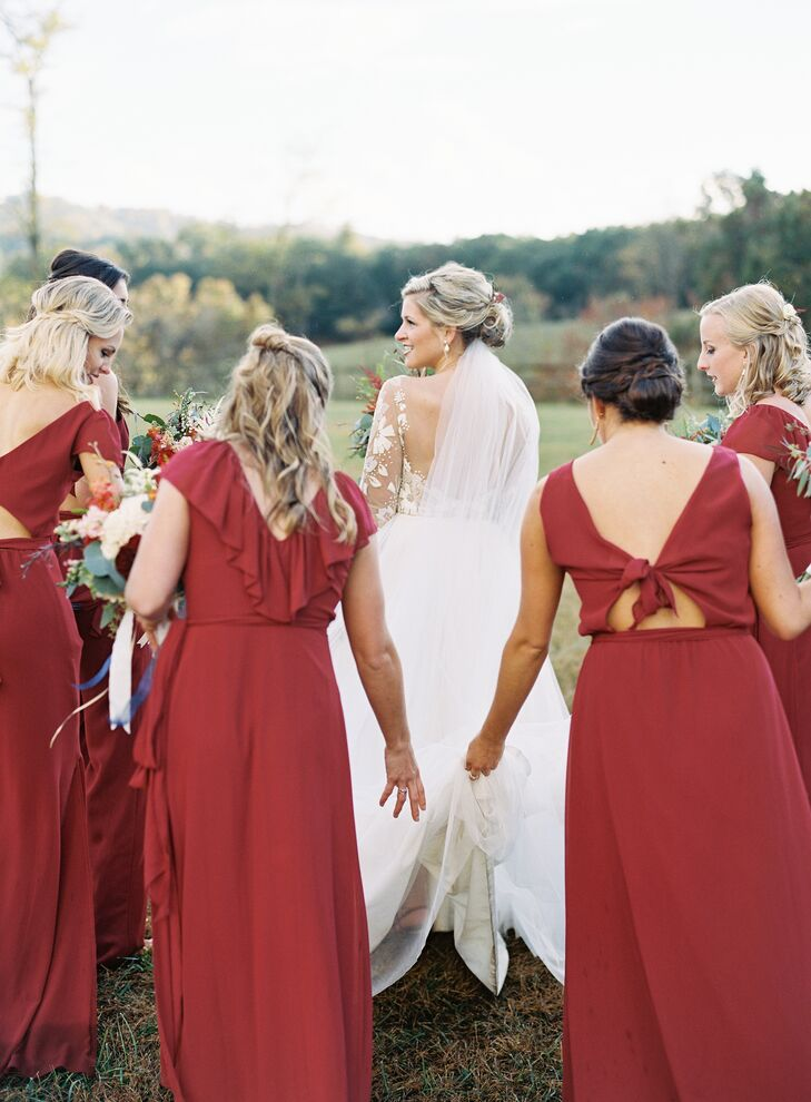 Romantic Fall Bridesmaid Dresses