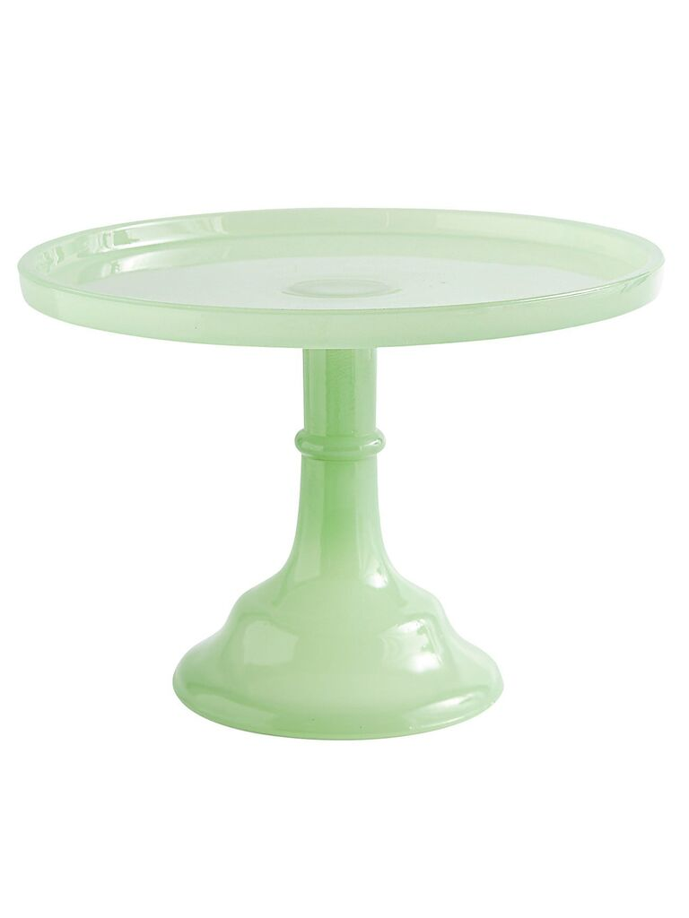 Vintage green wedding cake stand