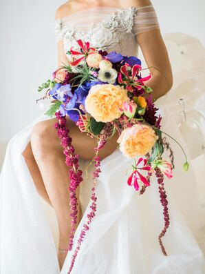 Tropical Cascading Bouquet
