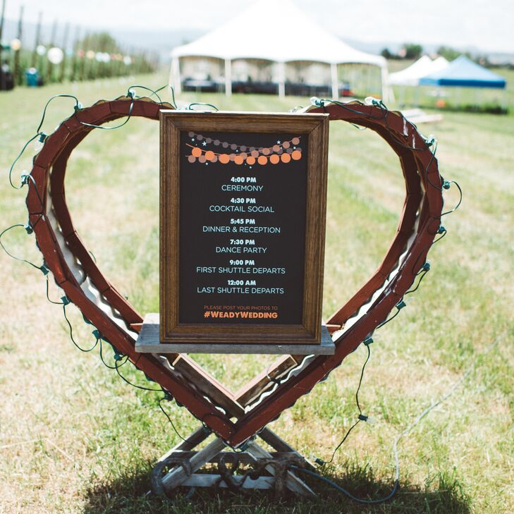 Heart-Shaped Reception Sign