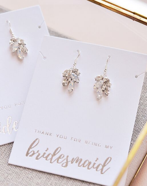 Dareth Colburn Crystal Leaf Earrings (JE-4159-OP) Wedding Earrings photo