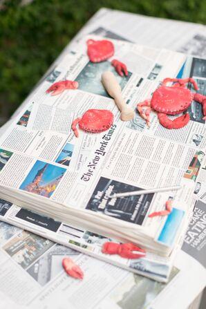 Crab and Newspaper Groom's Cake