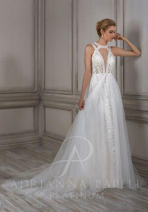 Adrianna Papell Platinum Clara Sheath Wedding Dress