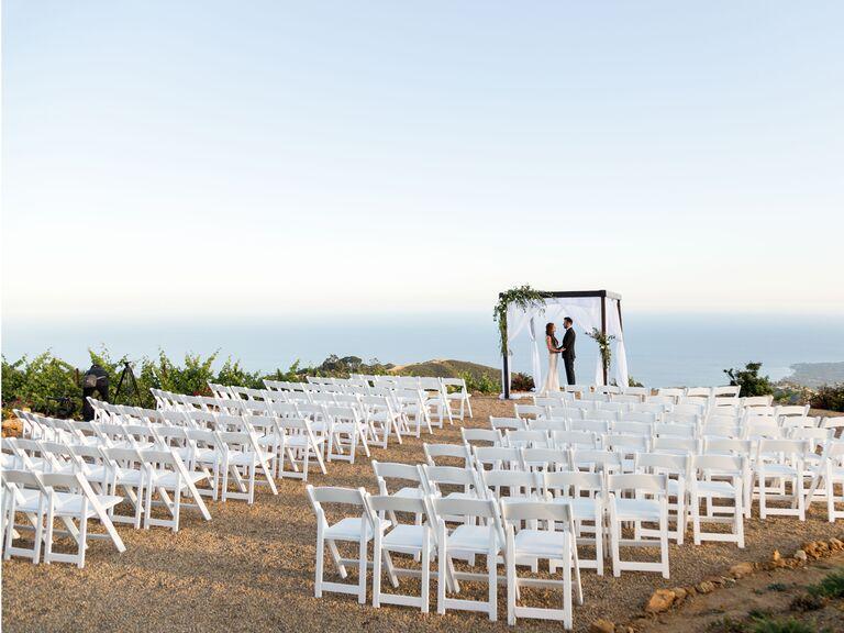 California wedding venue in Malibu, California.