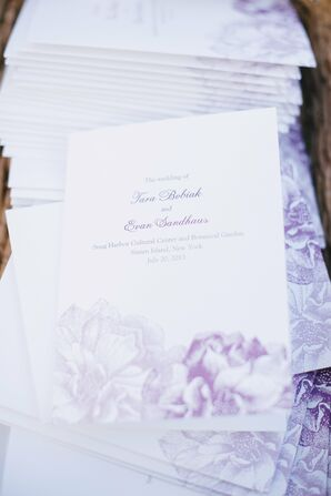 Purple Botanical Floral Designed Invitations