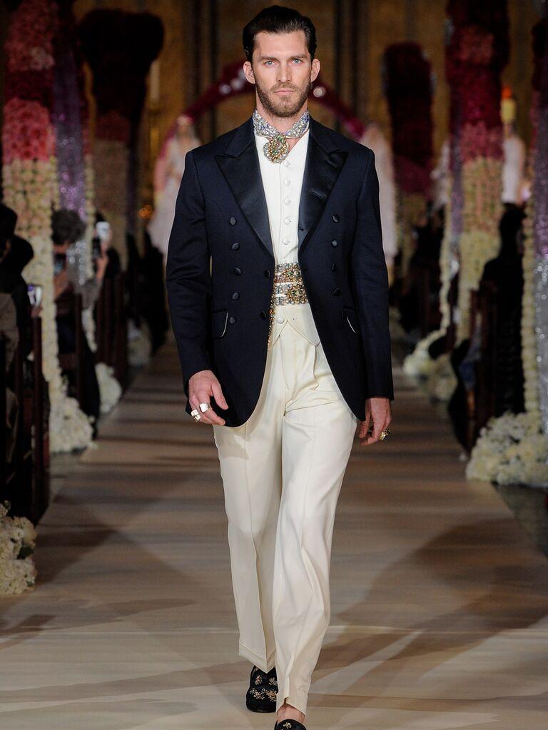 Joseph Abboud menswear groom look