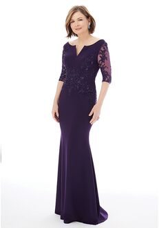 MGNY 72234 Black,Purple,Red Mother Of The Bride Dress