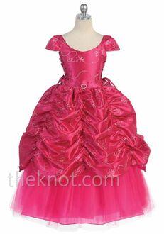 Pink Princess D596 Pink Flower Girl Dress