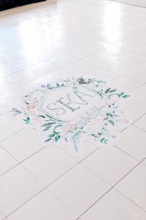 Pastel Monogram on Dance Floor
