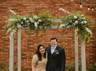 "Mithila	Tople and Jeremy DeJiacomo infused Indian and American traditions into their modern, casual wedding. ""We wanted a warm, intimate and fun-fille"