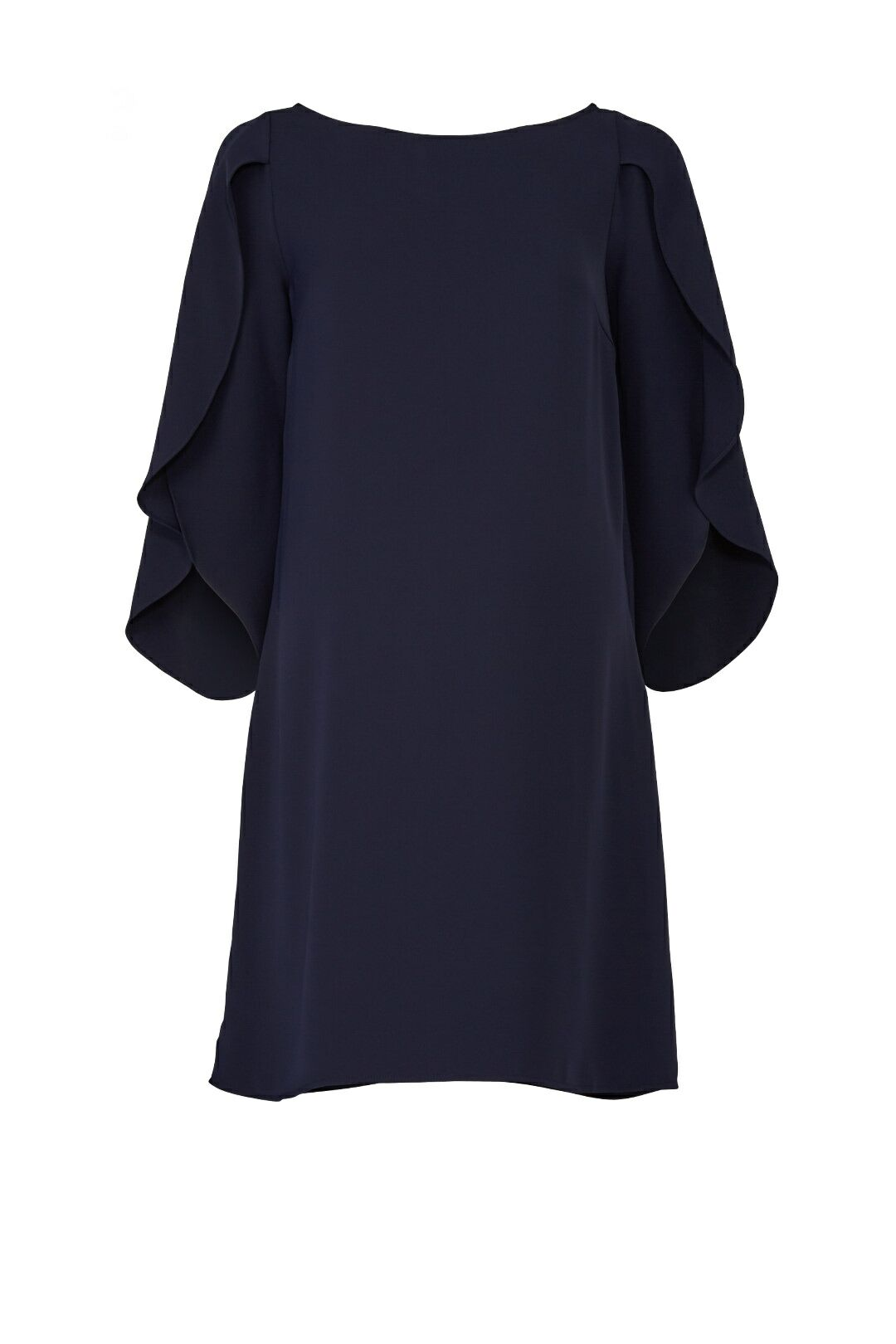 Navy Tulip Sleeve Maternity Dress