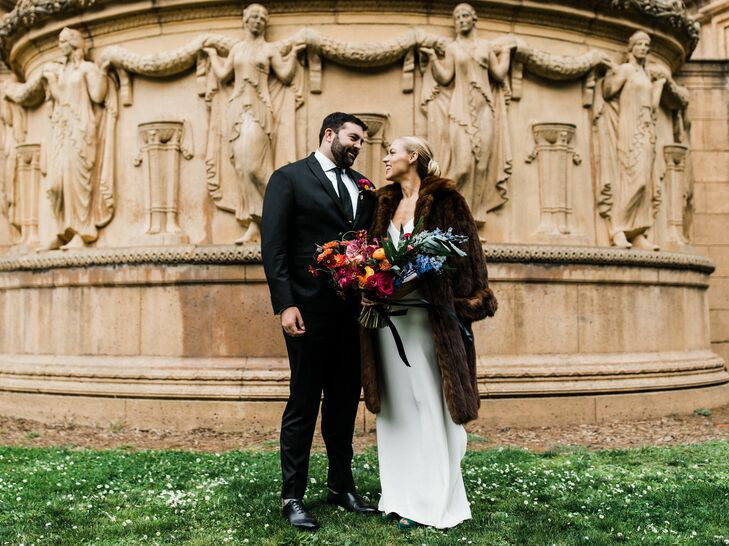 "A ""huge modern art fan,"" Betsy Howard incorporated her artsy style into her wedding with Jamie Germano. ""I wanted to do something extremely colorful,"