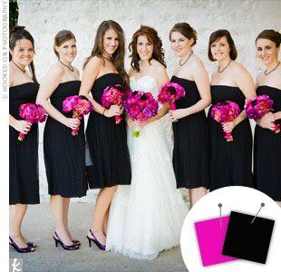 Wedding Color Combo: Hot Pink + Black