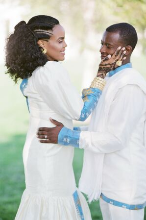 Glamorous Couple in Traditional African Attire