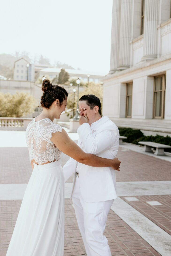 First Look During Elopement at UC Berkeley