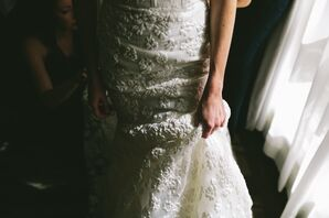 Imprinted Lace Wedding Gown