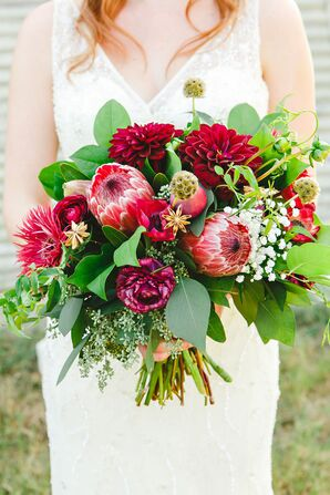 A Colorful Bridal Bouquet