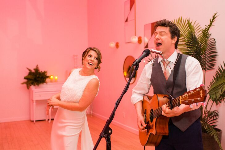 Couple Playing Music at Reception