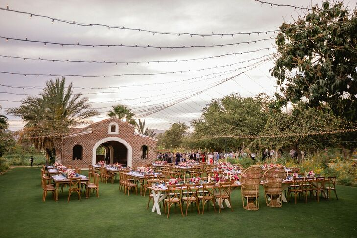 Romantic and Elegant Outdoor Reception at Flora Farms in San José del Cabo, Mexico
