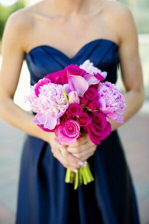 Bright Pink Bridesmaid Bouquet