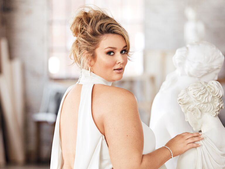 Hunter McGrady Wedding Dress The Knot Fashion Issue