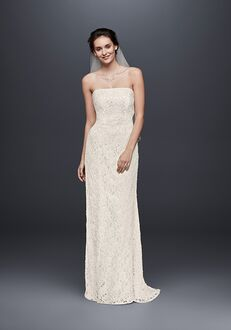David's Bridal Galina Style S8551 Sheath Wedding Dress